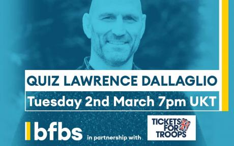 Welcome to BFBS, join us for an evening with rugby legend Lawrence Dallaglio!
