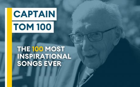 We want to pay homage to Captain Sir Tom by playing the most inspirational songs of all time on BFBS Radio.